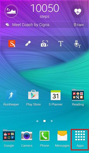 How to create app folders on Galaxy Note 4 home screen and