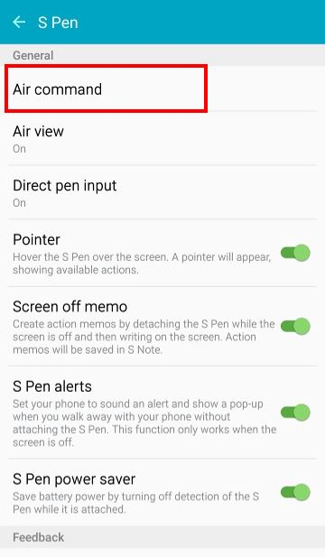 How to add app shortcuts to Galaxy Note 5 air command? - Galaxy Note