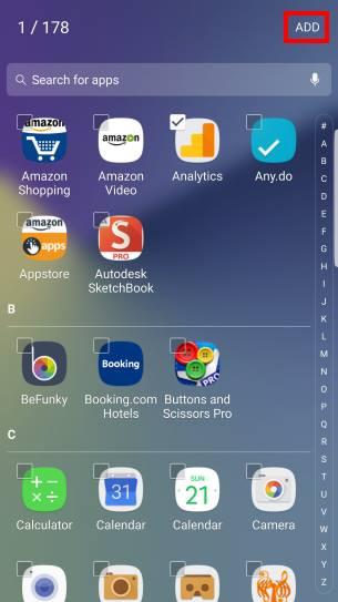 App folders in Galaxy Note 7 home screen