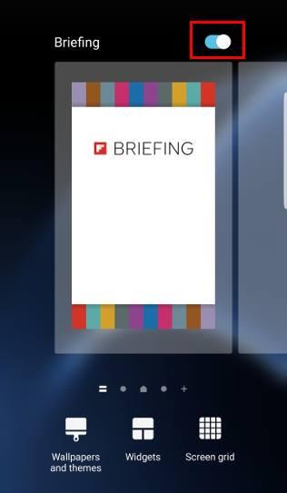turn off Galaxy Note 7 Flipboard briefing in home screen